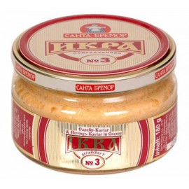 Caviar de capelan ahumado...