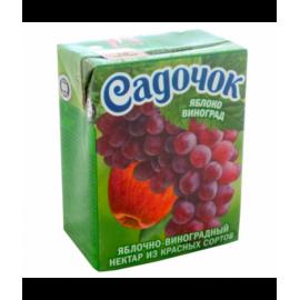 Zumo manzana y uva roja...