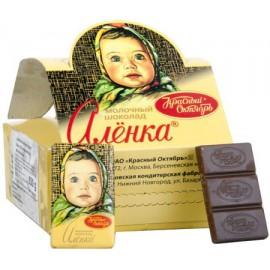 Молочный шоколад АЛЁНКА...