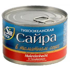 Saury en salsa de tomate...
