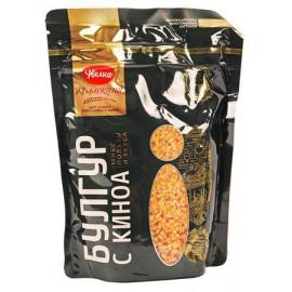 Granos de trigo bulgur con...